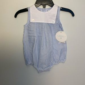 Edghill Collection Blue & White Romper
